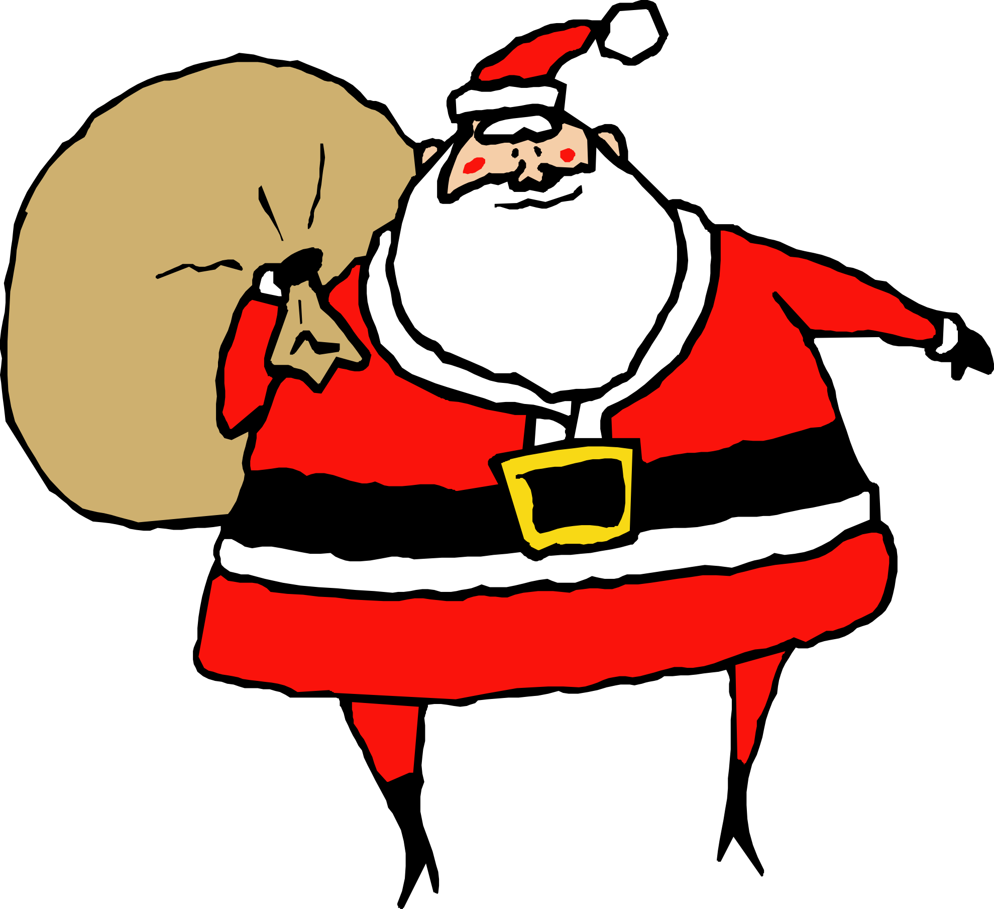 library  collection christmas santa. Bag of flour clipart