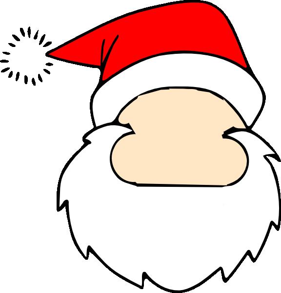 vector free Blank Santa Face Clip Art at Clker