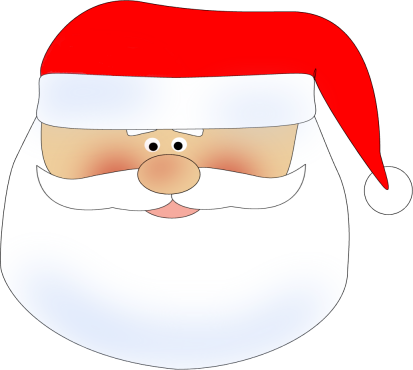 clip freeuse download Santa Head Clipart