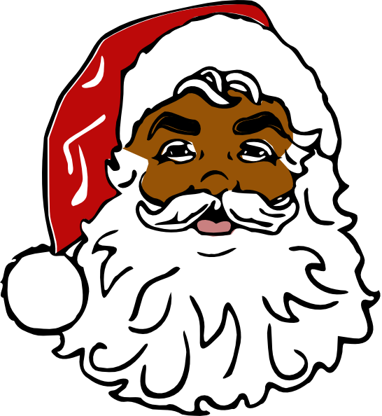 picture library download Santa head black hi. Beard clipart animated