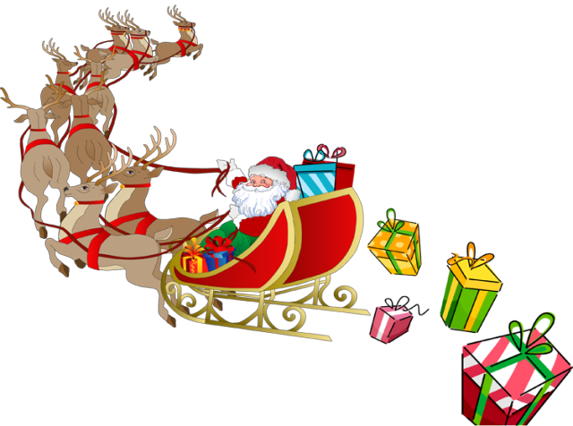svg freeuse download santa in sleigh clipart #67181099