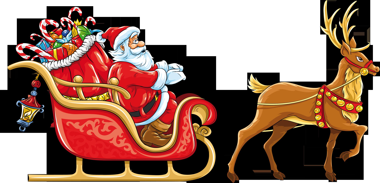 jpg Santa sleigh PNG images free download