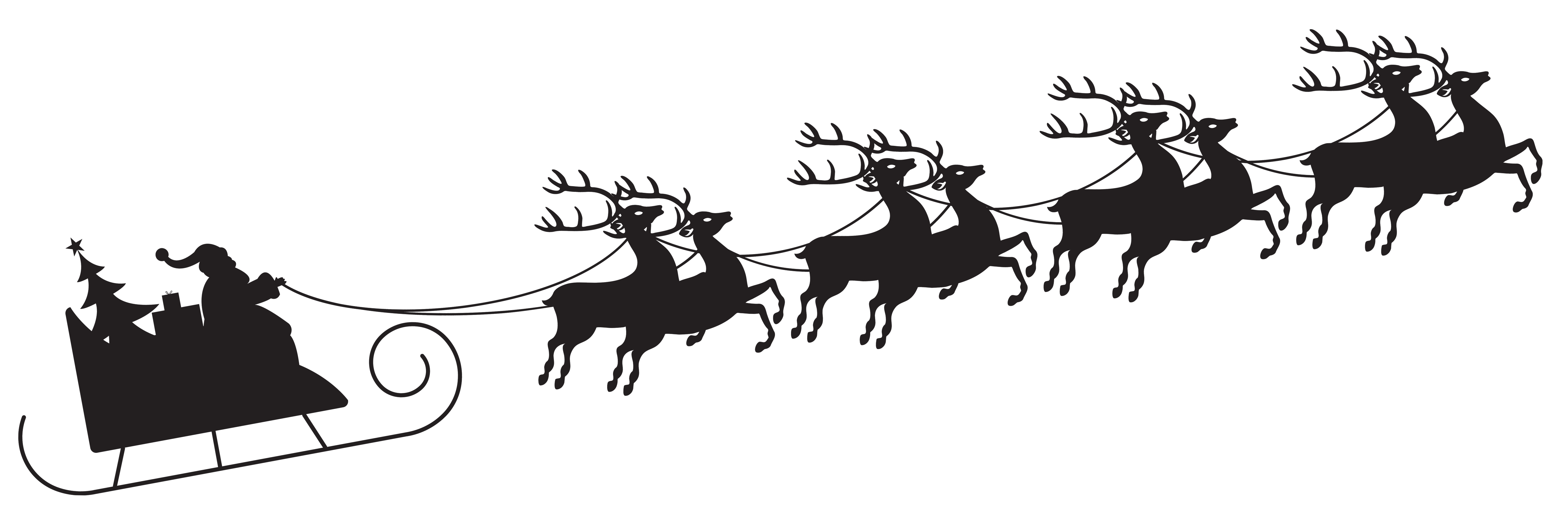 png transparent stock With silhouette png clip. Transparent santa sleigh
