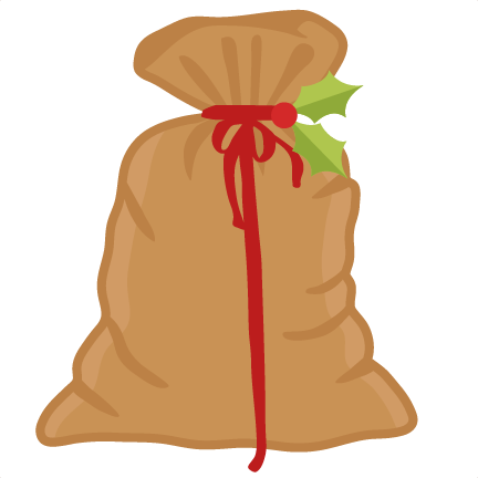 clip art santa's bag clipart #57435355
