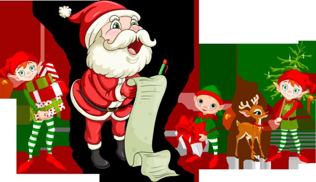image transparent stock santa checking his list clipart #65633376