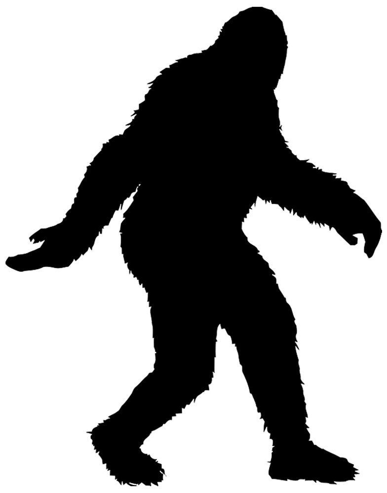 clip freeuse download Shadow vector art.  x sasquatch bigfoot.