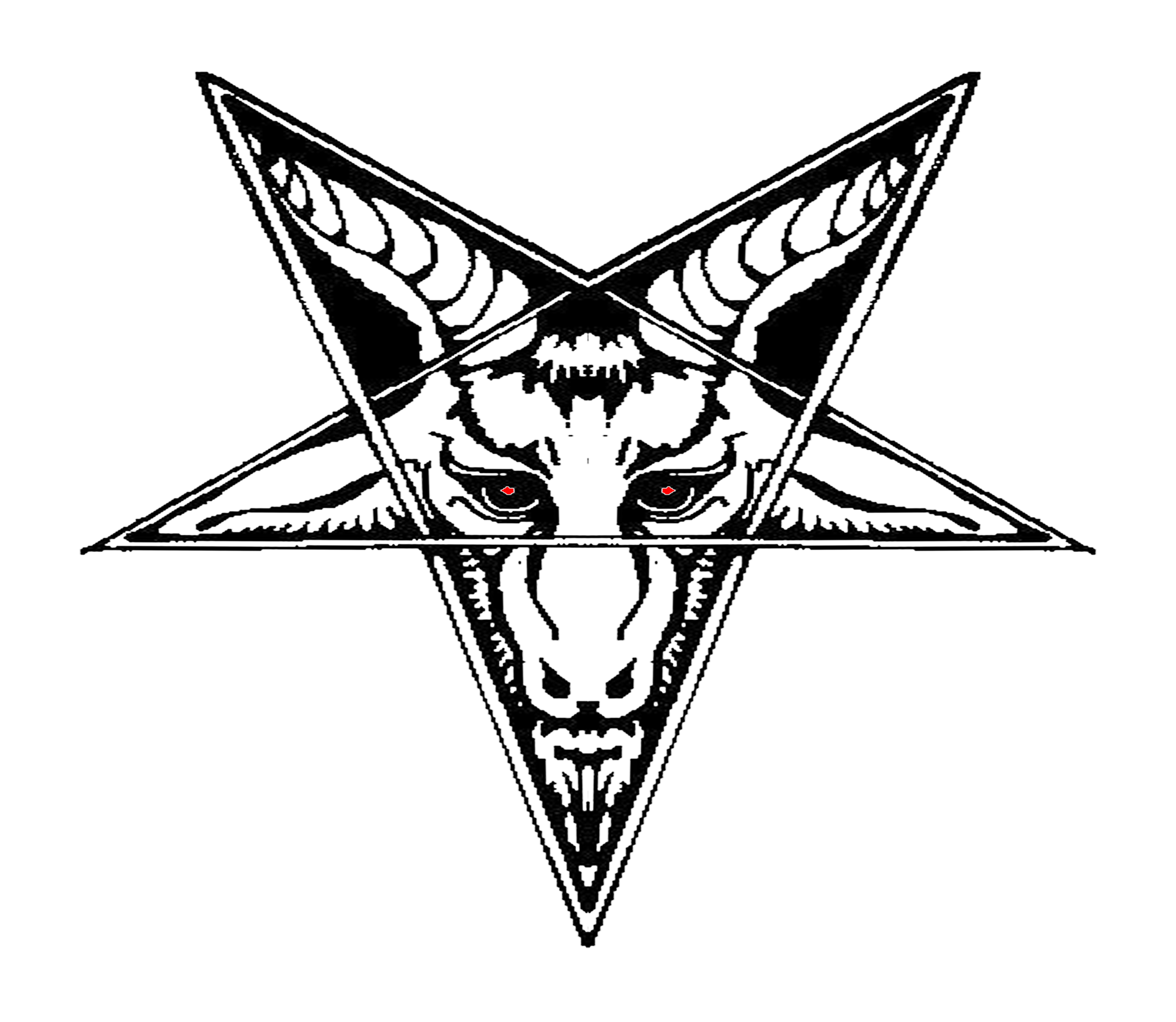 banner library stock Baphomet drawing satanism. Satanic goat png lucifer