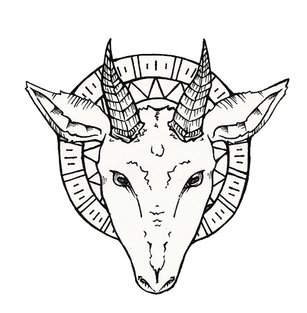 graphic black and white Goat head at getdrawings. Baphomet drawing outline