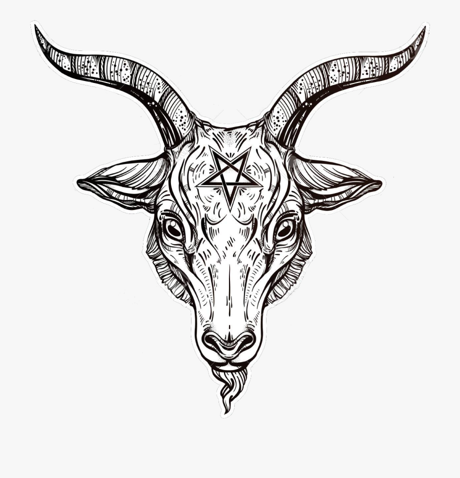 banner free library Baphomet drawing simple.  pentagram with demon