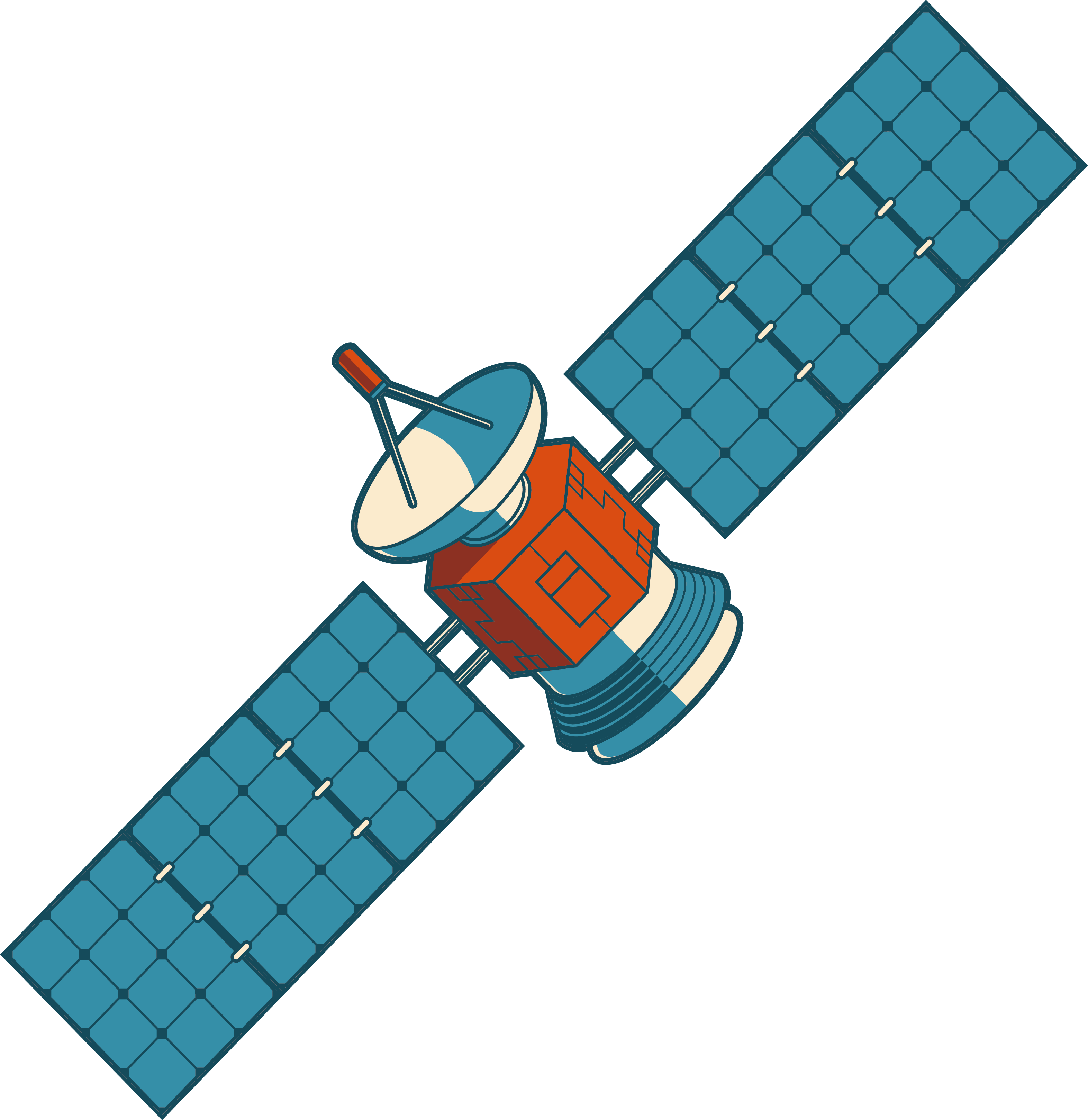 clip black and white stock Satellite clipart. Nilesat clip art satellites