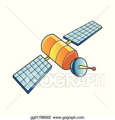image library Vector illustration communication eps. Satellite clipart