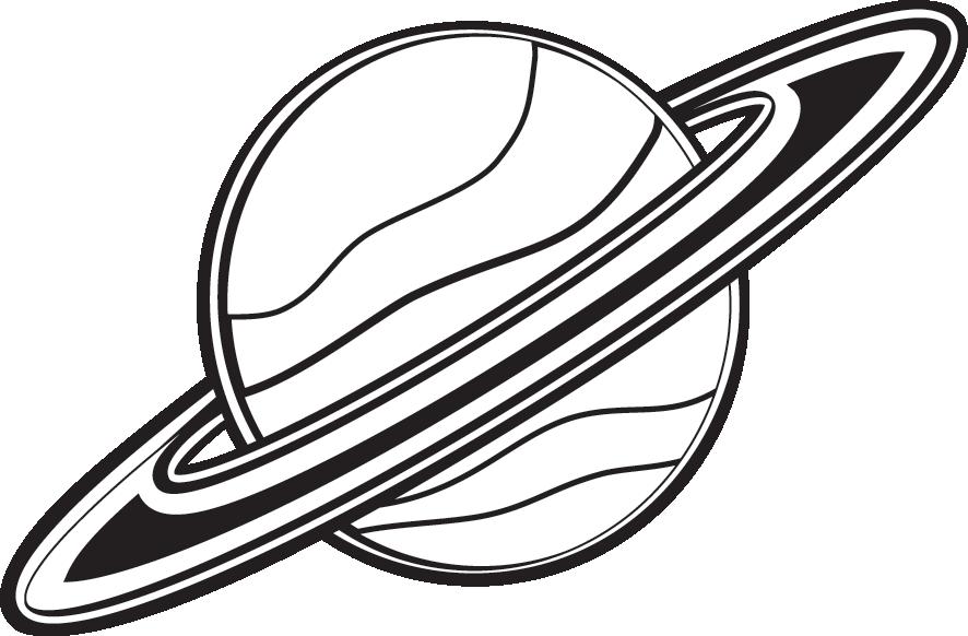 jpg library Black . Saturn clipart