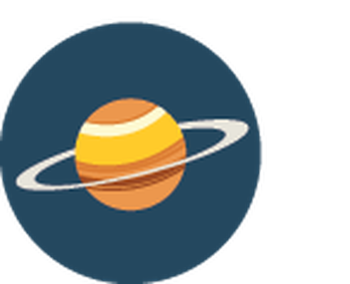 jpg freeuse Science icons yellow and. Saturn clipart