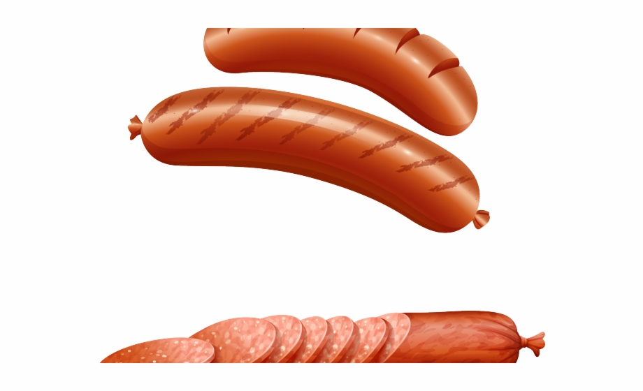 graphic royalty free Breakfast sausages . Sausage clipart.
