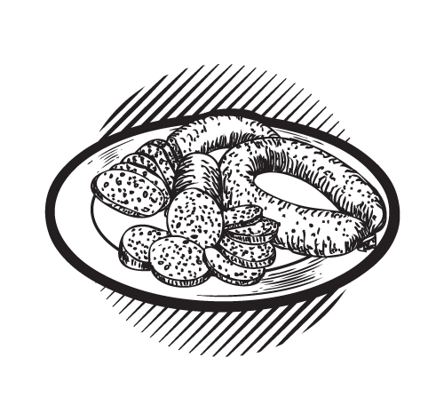 picture royalty free download Sausage at getdrawings com. Plates drawing.
