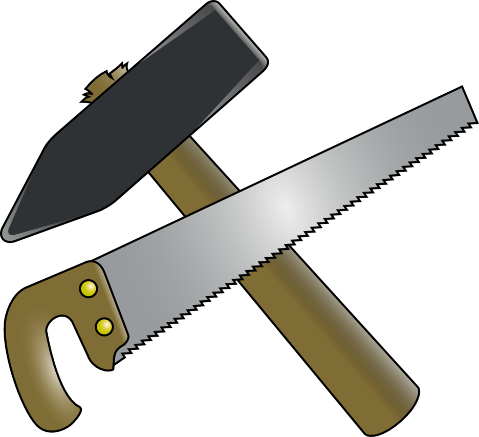 graphic royalty free stock Saw clipart. Hammer and by fuzi.