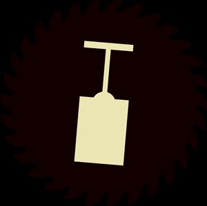 jpg free library Sawblade vector.  bold icon designs