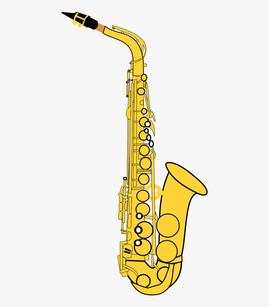 png black and white library Saxophone clipart. Alto classic