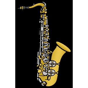 svg free Free clip art image. Saxophone clipart