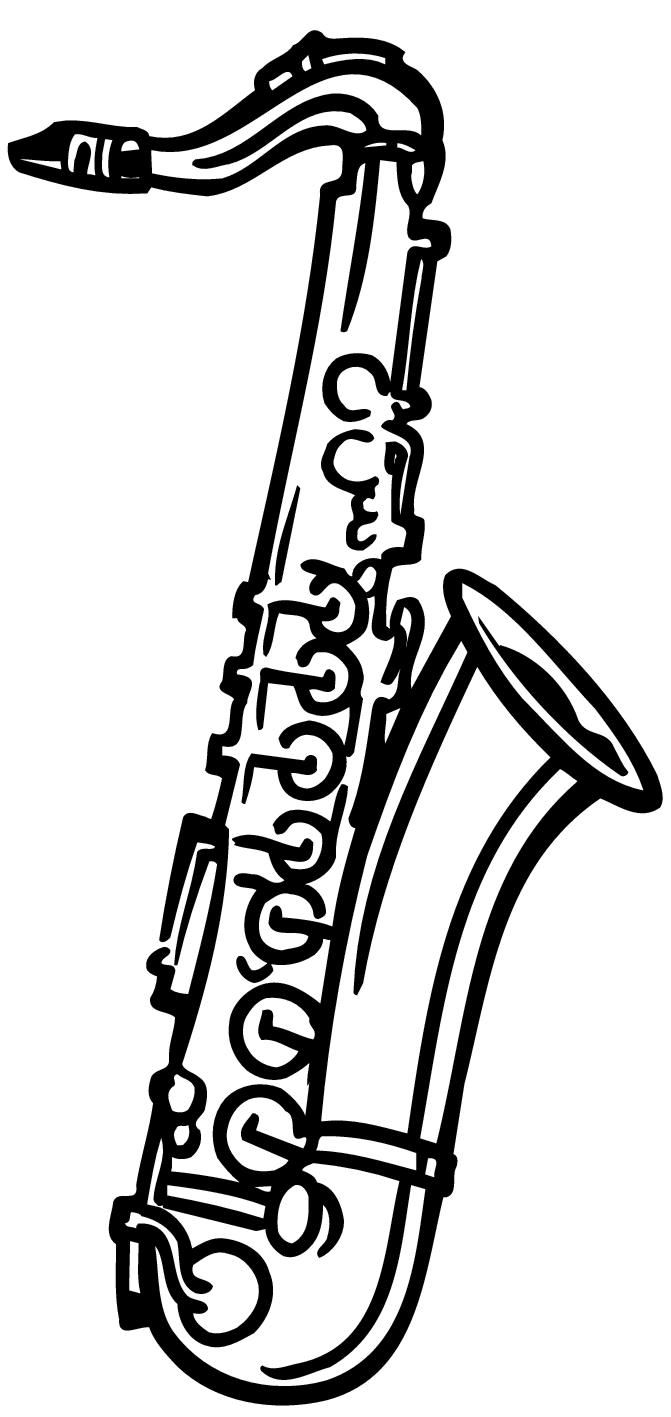 clipart black and white library Saxophone clipart black and white. Free download best