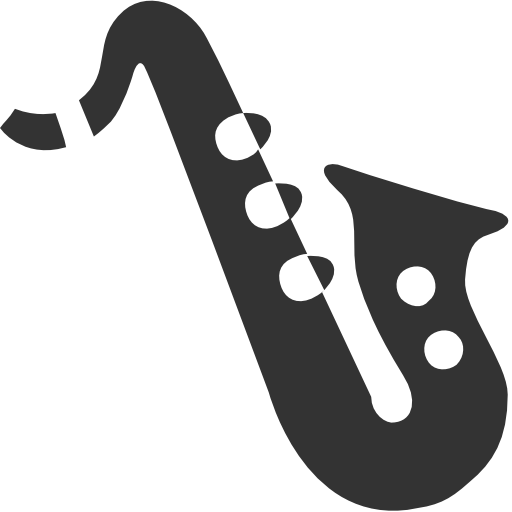 banner free library Android alto icon s. Saxophone clipart black and white