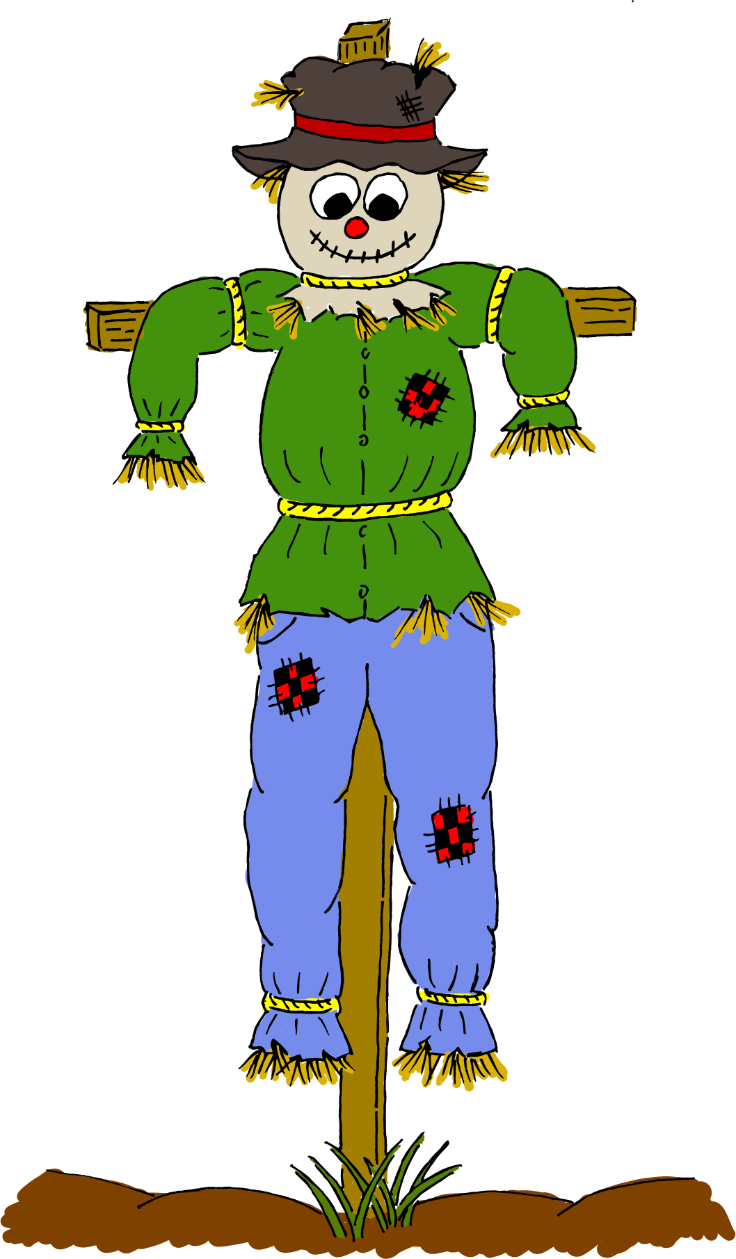 graphic transparent Small free on dumielauxepices. Scarecrow clipart.