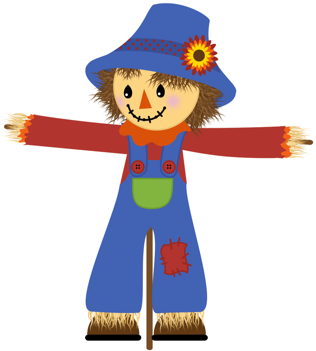 vector royalty free download scarecrow clipart