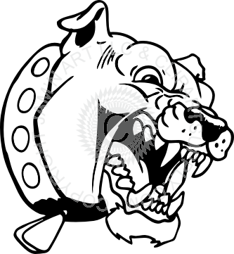 black and white Bulldog clipart cute borders. Scared drawing