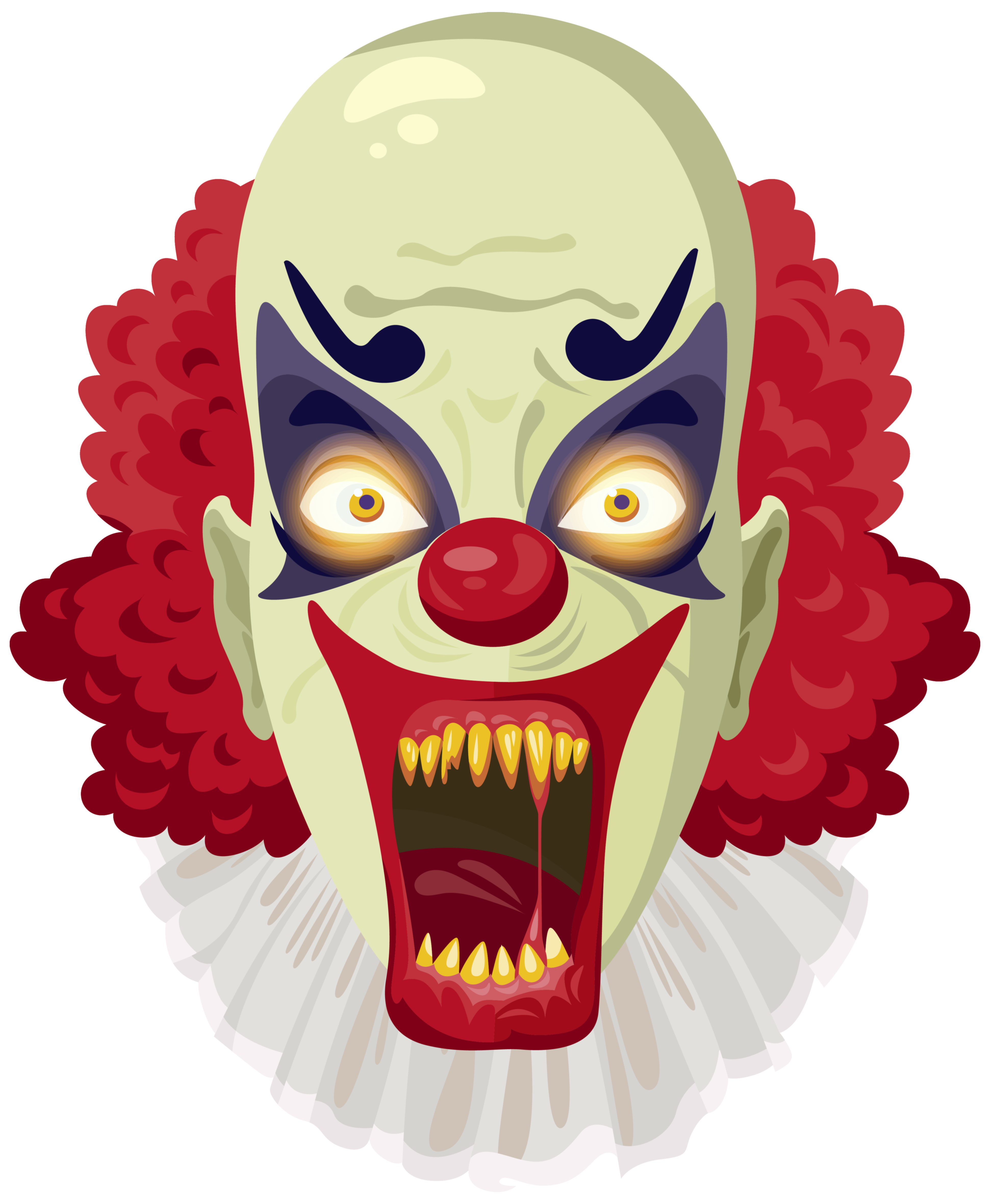 picture black and white stock Scarey clipart. Scary clown png image.