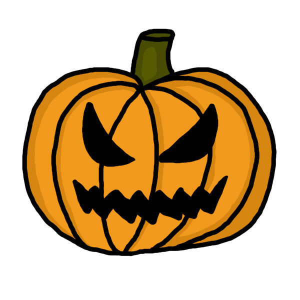 svg freeuse Scary clipart. Pumpkin