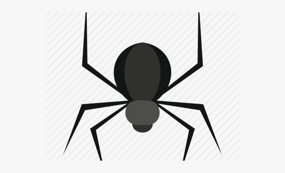 image free Black widow scary spider. Scarey clipart anxiety.