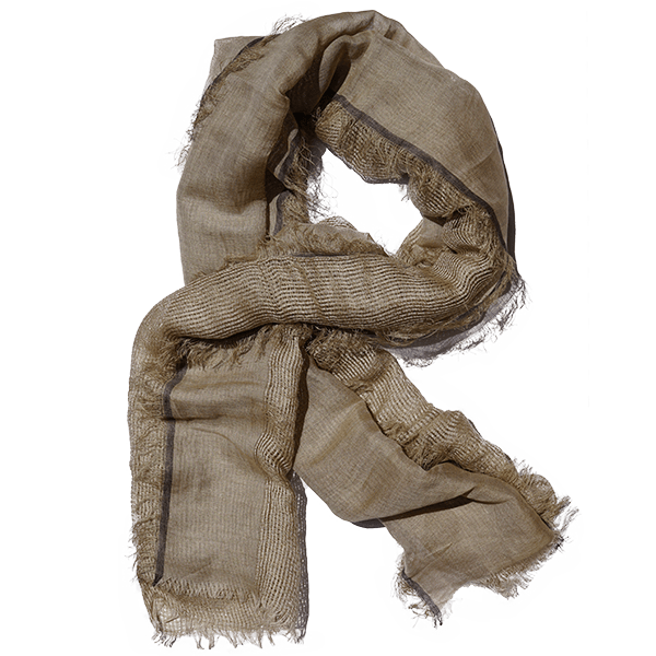 vector library download Beige Linen Scarf with Mesh
