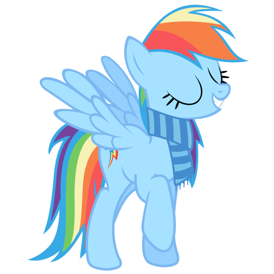 clipart library library Scarf transparent rainbow. My little pony friendship