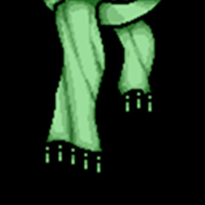 vector Green Scarf