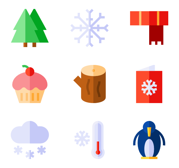svg transparent library Winter clothes Icons