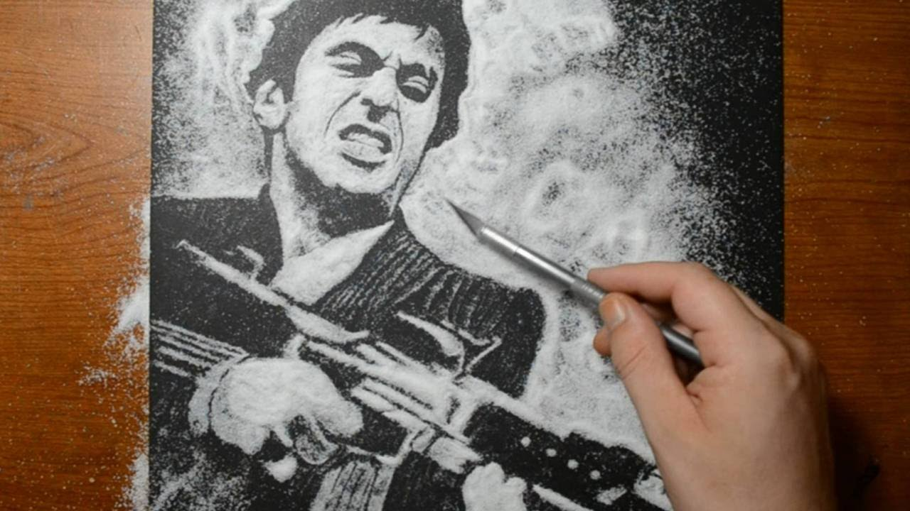 picture transparent stock Scarface drawing. Al apacino from in