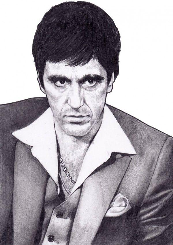 clipart transparent download Al pacino drawings pics. Scarface drawing