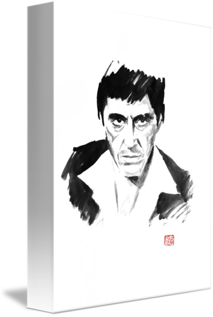 graphic transparent stock By philippe imbert . Scarface drawing