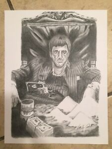 jpg black and white download Scarface drawing. Details about tony montana