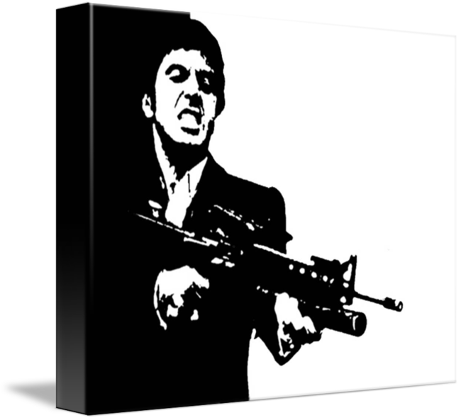 svg black and white download SCARFACE CULT CLASSIC POP ART MOVIE POSTER by CULT CLASSIC MOVIE POSTERS