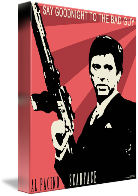 vector library download Scarface Poster by Dmitry Chislov