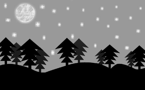 svg transparent stock Scene clipart. Forest night clip art.