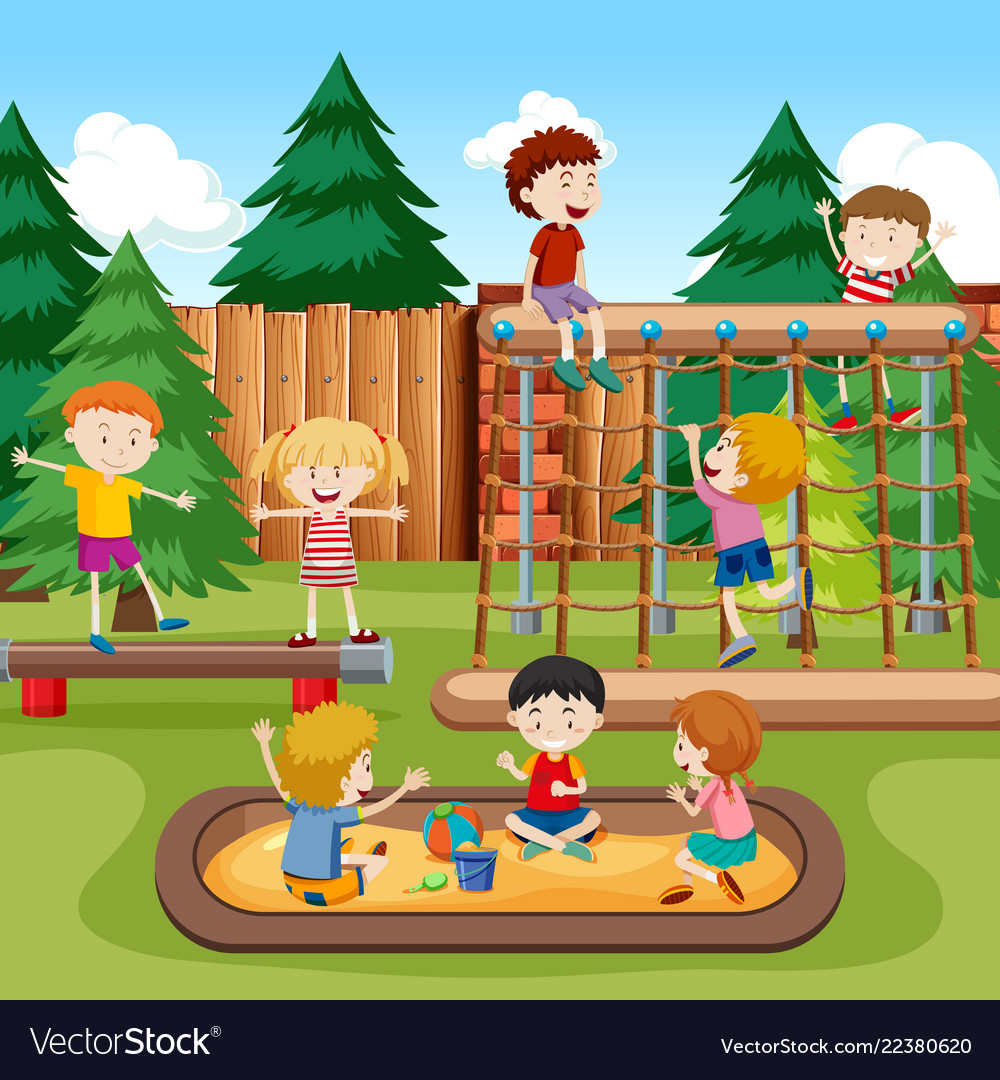 image library Playground x free clip. Scene clipart.