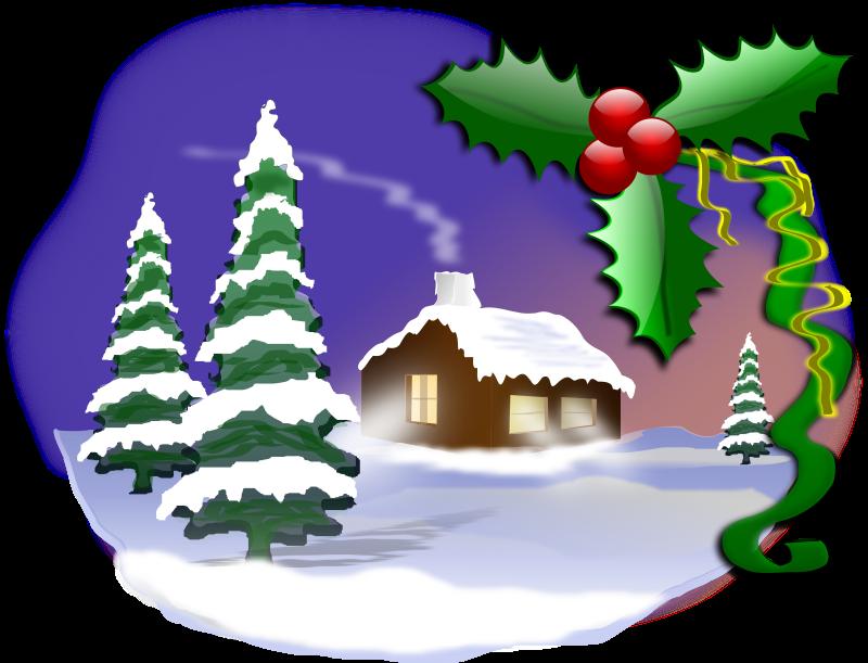 image freeuse stock Scene clipart. Christmas free .