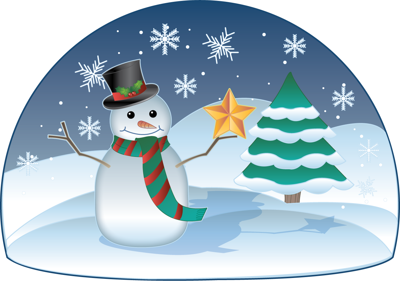 clip art freeuse Real Snow Scene Clipart