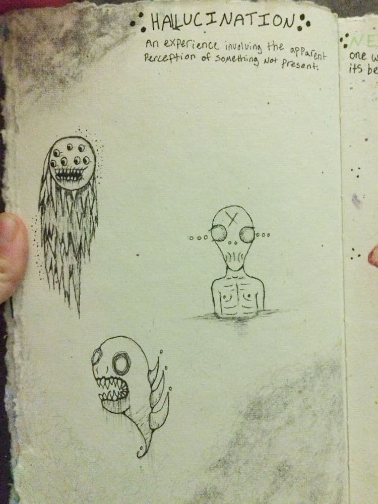 picture transparent library Schizophrenic drawing.  year old creates