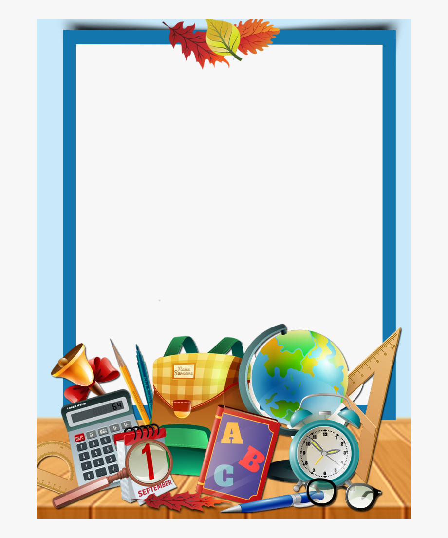 picture royalty free download  frame i for. Back to school clipart borders