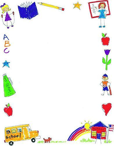 clipart freeuse library Frames marco border page. School borders clipart