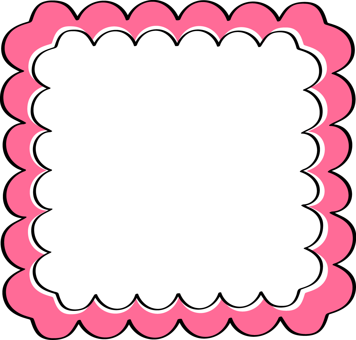 image freeuse library Free panda images pinkscrollframeclipart. Clipart school borders.