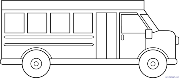 image free stock All clip art archives. School bus black and white clipart